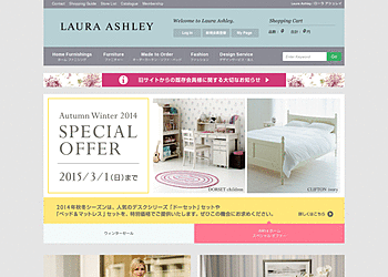 【ローラアシュレイ】	WINTER SALE!HOME&FASHION!