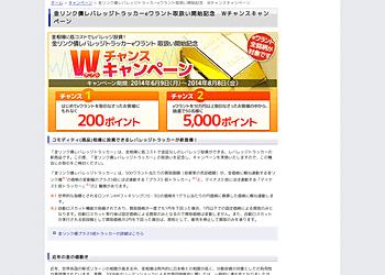 【楽天証券】金リンク債レバレッジトラッカーeワラント取扱い開始記念 Wチャンスキャンペーン